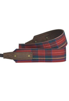 Scottie Stewart Rouge Tartan Camera Strap