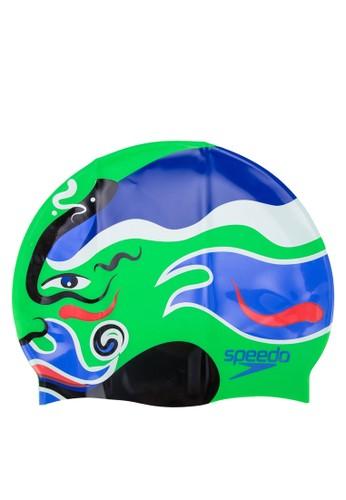 彩色印花泳帽, 運動esprit outlet, 游泳配件
