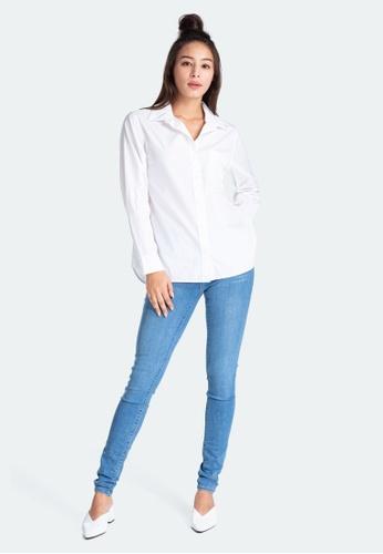 Levi's white Levi's Ultimate Boyfriend Shirt 77653-0020 CFA26AAD103FC2GS_1