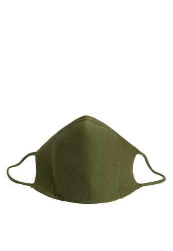 Mango Man green Reusable Homologated Face Mask B6419ESC2EB2C9GS_1