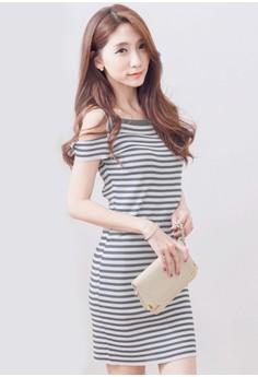 Stripes Delight Knit Dress