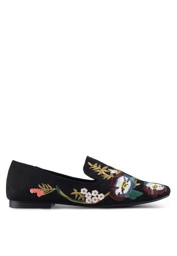 Mango black Embroidered Floral Shoes 25DE3SH78F82BDGS_1