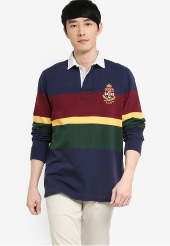 Polo Ralph Lauren navy Long Sleeve Rugby Polo Shirt 08DEAAA2984908GS_1