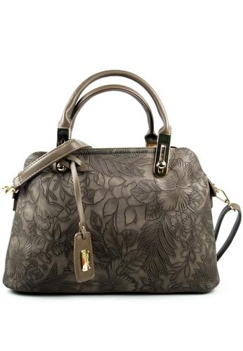 Kimbel International brown Handbag with Sling 4DD27ACA44528FGS_1