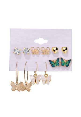 Glamorbit multi Multi Colour Statement Earrings Set 78990AC7A6AADEGS_1
