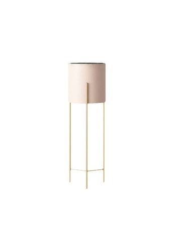 DILAS HOME pink Nordic Plant Pot with Gold Stand (Pink) - Small 6D1E9HLED40724GS_1