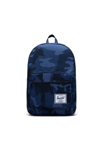 Herschel multi and navy Herschel Unisex Pop Quiz Backpack Peacoat Camo- 22L 44094AC003D19BGS_1