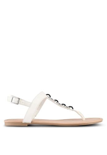 Call It Spring white Asauclya Sandals 25C44SH0E7D270GS_1