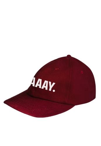 HYPE MNL red Craaay Baseball Cap 1925EAC26EF20EGS_1
