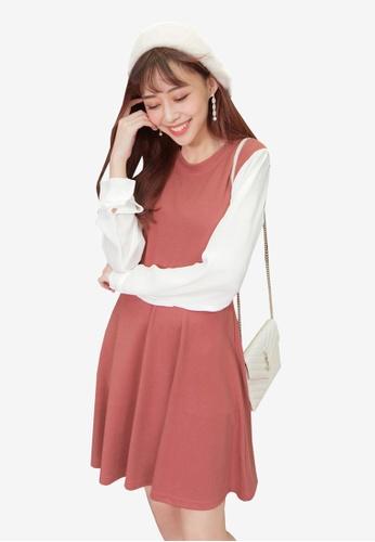 Tokichoi pink Colourblock Sweater Dress AFFC5AA84C1AC5GS_1