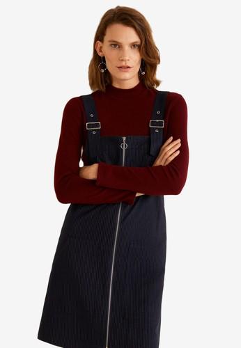 MANGO blue Pockets Pinafore Dress 60842AA3F29565GS_1
