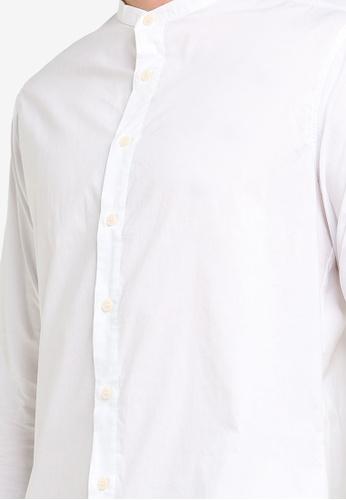 7b22dafb3af Basic Stand Collar Long Sleeves Shirt