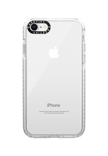 Casetify white Impact Protective Clear Case for iPhone 8/ iPhone 7 – Frost AB636ACCCF2A0EGS_1