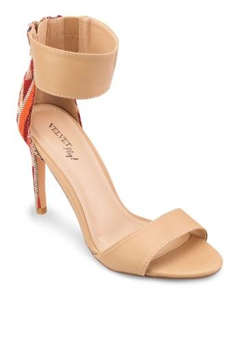 Play! Izzy 民族風邊飾繞踝高跟鞋, 女esprit 價位鞋, 鞋