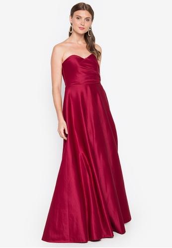 Tantease red Sophie Long Dress 6FDA0AA1EF37DBGS_1