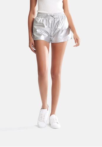 London Rag silver Metallic Shorts 77719AA2F381FDGS_1