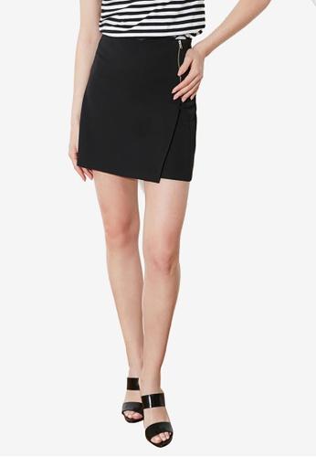 Trendyol 黑色 Zip Detail High Waist Skort 1ECD9AAD2636FBGS_1