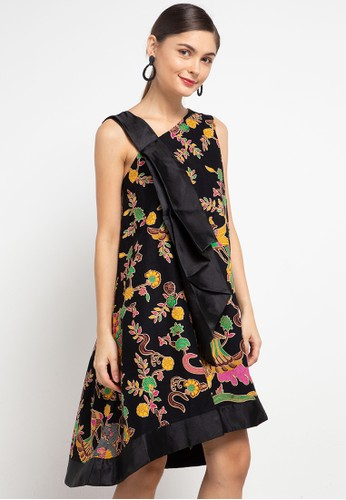 Batik First black Dress Tent SideShoulder FlowingBow+Lining D824BAAD0DC672GS_1