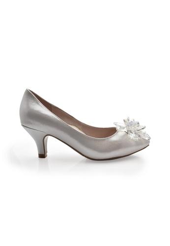 Elisa Litz silver Rellas Heels (Silver) EL365SH81ZIWSG_1
