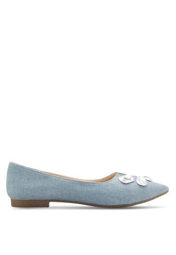 Nose blue Stone Embellished Flats NO327SH51CVGMY_1