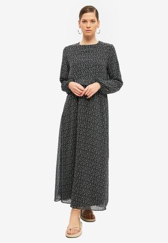 Trendyol black Printed Long Sleeves Dress F0169AA6879E98GS_1