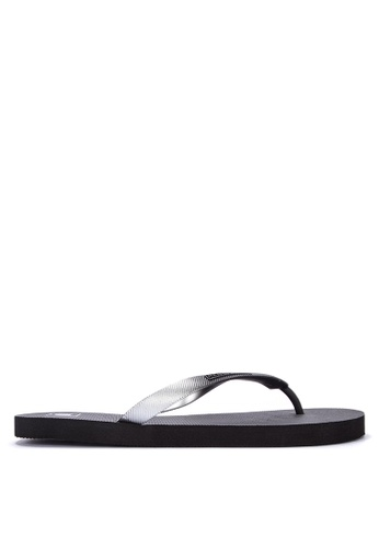 Penshoppe black Solid Shade Rubber Flip Flops A4B7DSH28C818EGS_1