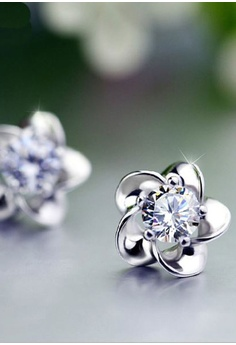 a297b30f95a8 Elitrend Sakura Crystal Ear Stud Earring In Silver S  9.90. Sizes One Size