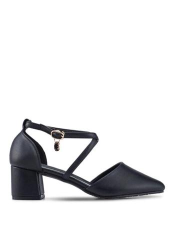 Twenty Eight Shoes black Cross Strap Mid Heel 2.0 0912BSH59BFF88GS_1