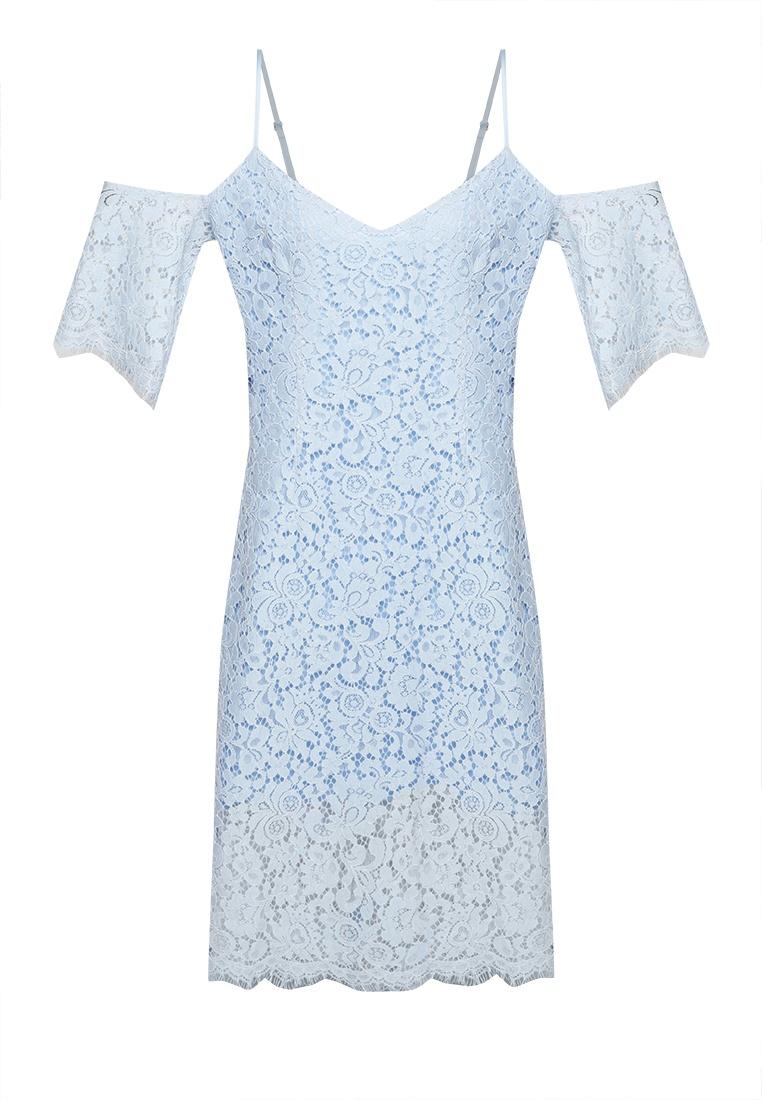 Off Dress Blue NOBASIC Lace Shoulder wq6frXq