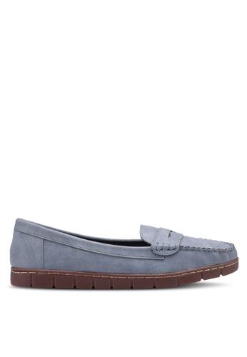 Bata 藍色 休閒船型鞋 0D738SH9587741GS_1