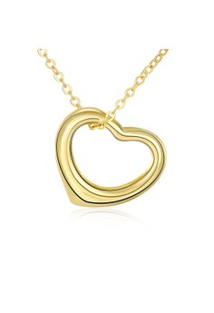 N045 Simple Love heart Design Pendant Necklace Party Jewelry