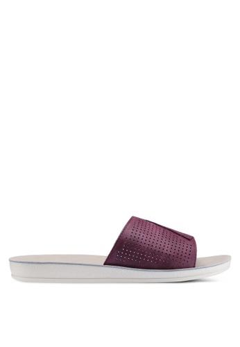 Noveni 紅色 雕紋涼鞋 03C7CSHF04E536GS_1