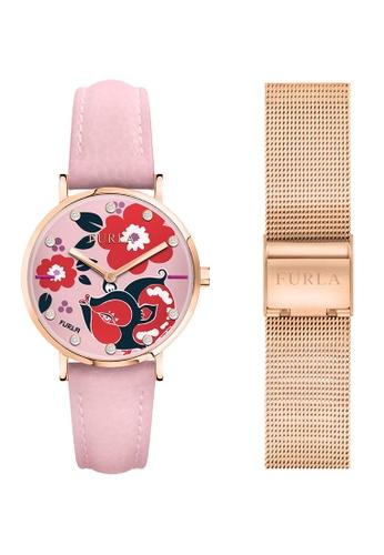 2171ff78a5 FURLA pink Lunar New Year Limited Edition Giada Quartz Watch R4251108533 Pink  Leather Strap C9C88ACFC91E97GS_1