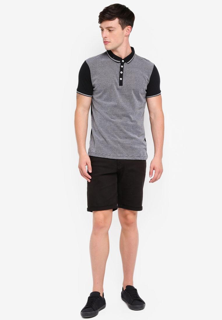 Jersey Shirt White Brave Sleeve Soul Short Polo Black A5zqwxnt