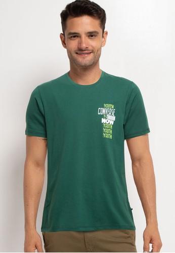Converse green Youth Now Short Sleeve Tee D0A16AAC0D5812GS_1