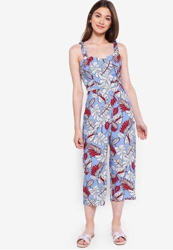 Something Borrowed blue Ruffled Strap Jumpsuit 6AD8DAAED45B88GS_1