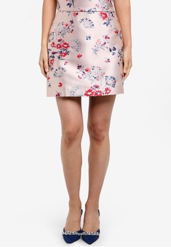 ZALORA pink Jacquard A Line Skirt 922C6AA5662565GS_1