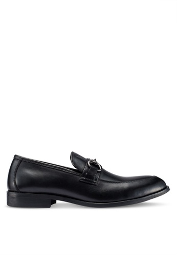 Carlton London black Slip On Loafers 82076SH6750A62GS_1