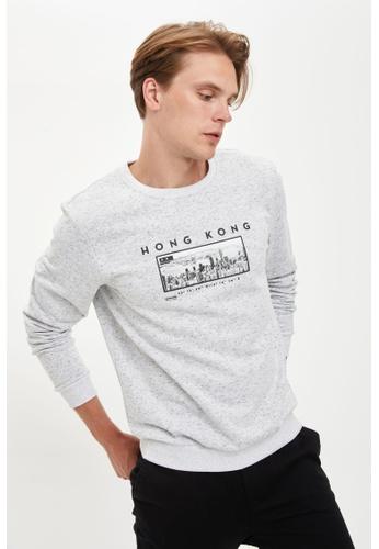 DeFacto grey Man Knitted Sweat Shirt F3031AA9E9E1B7GS_1