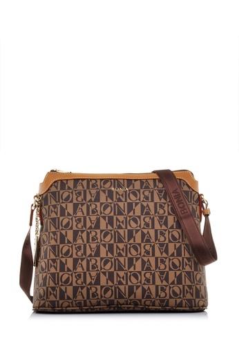 Bonia Brown Dark Caia Crossbody Bag 944c3acf125a03gs 1