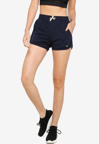 UniqTee navy Fitness Shorts with Elastic Waistband 10132AA3EC390EGS_1