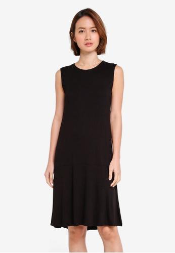 OVS black Woven Midi Dress A4170AA0249574GS_1