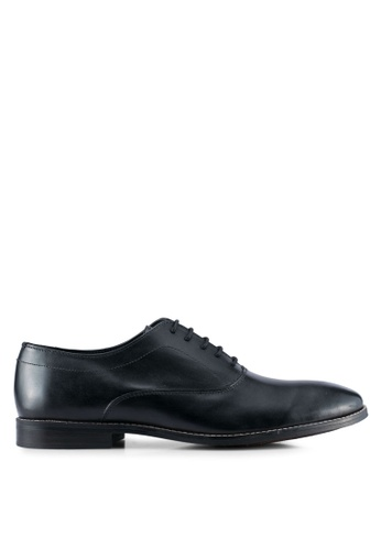 ZALORA black Calf Leather Lace Up Dress Shoes 03B78SHA7CEF28GS_1