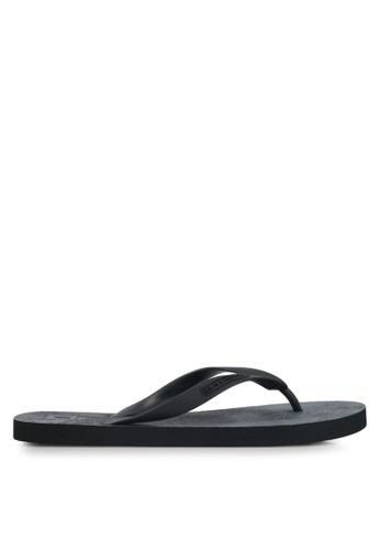 Penshoppe black Rubber Flip-Flops 18618SHD9B4DFEGS_1