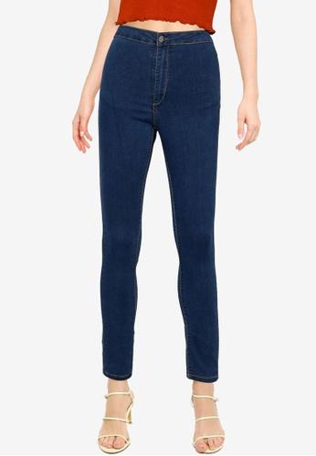 Public Desire blue High Waisted Skinny Jeans 6BB9BAAC8E9AD7GS_1