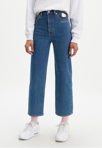 shades of stylish design vast selection Levi's x Hello Kitty Ribcage Straight Ankle Jeans Women 72693-0021