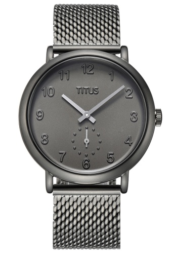 Solvil et Titus grey Nordic Tale Unisex Analogue Quartz Watch in Grey Dial and Grey Stainless Steel Mesh Bracelet 987EDACD998A79GS_1