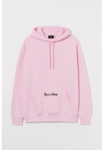 H&M pink Regular Fit Hoodie 2EDCCAAE8EEC0BGS_1