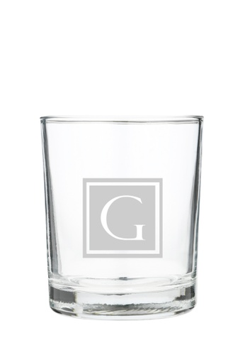 Myriad Print Concepts white Whisky Scotch Glass (Glass-etched Initial) 481E6ES1B059A3GS_1