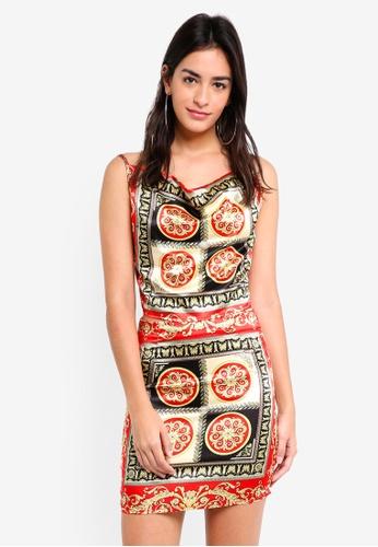 MISSGUIDED multi Silky Print Cami & Skirt Co-Ord Set 9A7D5AA8259DA3GS_1